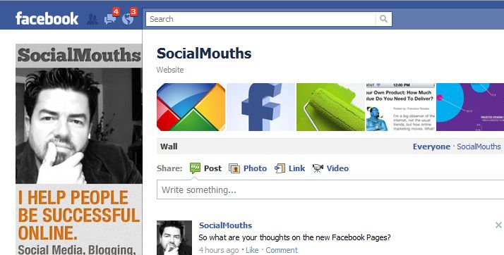 Social Mouths Facebook Business Page