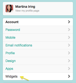 Favorite tweets Twitter widget step 2