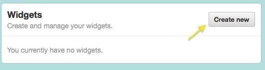 Favorite tweets Twitter widget step 3