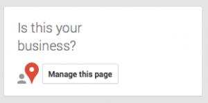 Claim my Google listing