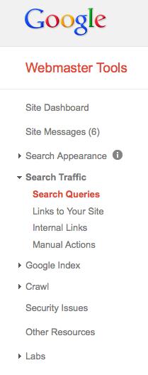 Google WebMaster Tools Keywords