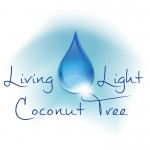Living Light Coconut Tree Logo