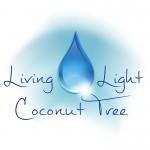 Living Light Coconut Tree Logo