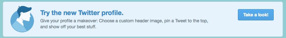 New Twitter design callout