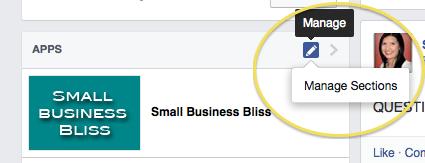 Facebook sidebar reorder