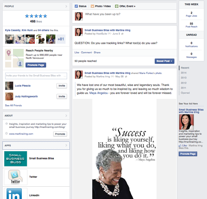 new Facebook pages newsfeed