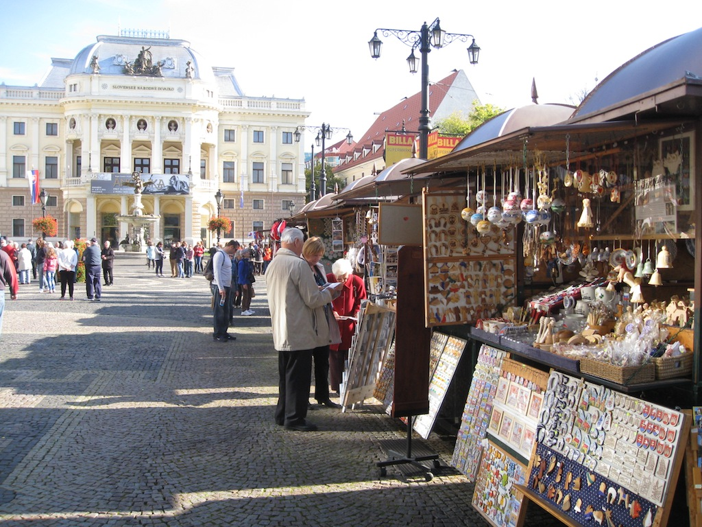 While tourist shops can be tacky, I found these stalls so charming! ~ Bratislava, Slovakia