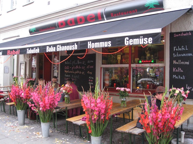 With this many flowers (and many, many more inside!), you know this small business is loved - Kebab restaurant, Berlin