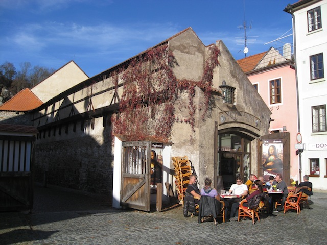 Talk about an atmospheric cafe - Cesky Krumlov, Czech Republic