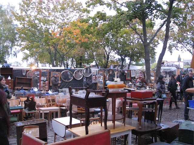 Flea market, Berlin - where anyone with something to sell can be an entrepreneur for a day!